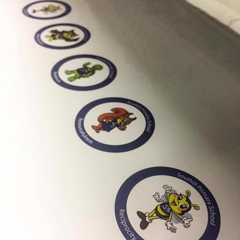 Southill School stickers