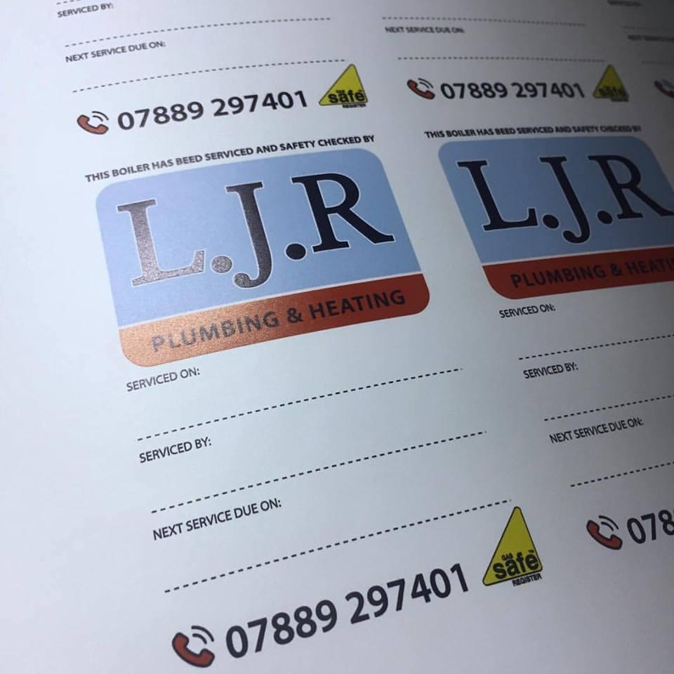 LJR Boiler Service Labels